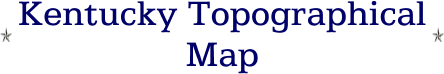 Kentucky Topographical Map